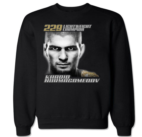 Men's Khabib Nurmagomedov 229 Lightweight Champion Crewneck Sweater