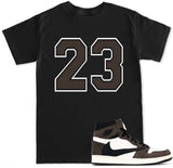 Men's  23 Brown Travis Scott Retro 1 T Shirt