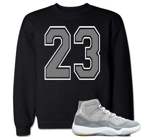 Men's 23 Cool Grey Crewneck Sweater