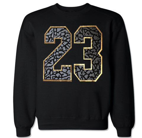 Men's 23 Cement Gold Crewneck Sweater