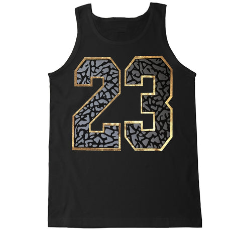 Men's 23 CEMENT Tank Top Gold