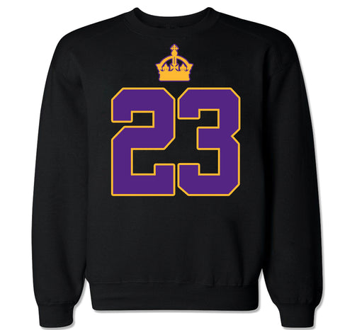 Men's 23 KING LAKERS Crewneck Sweater