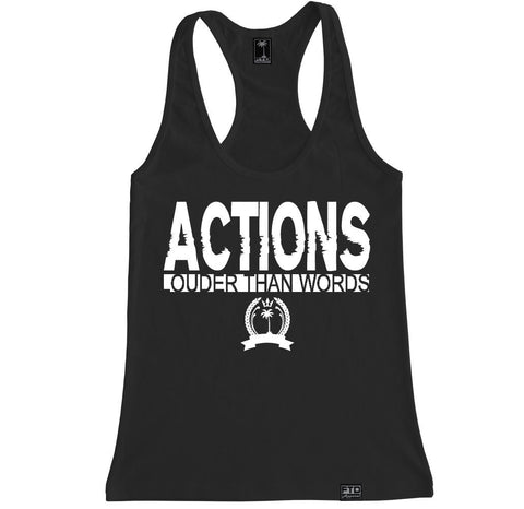 Women's ACTIONS LOUDER Racerback Tank Top