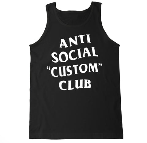 Customize Your Own Anti Social Club Text Men's Tank Top
