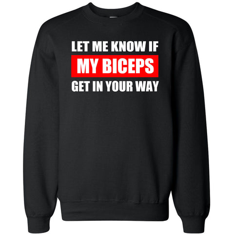Men's BICEPS WAY Crewneck Sweater