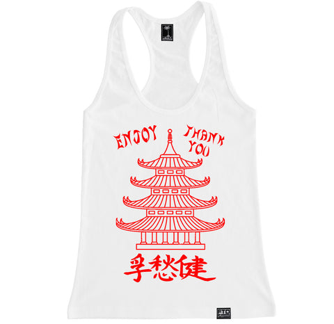 Women's CHINESE TAKE OUT Racerback Tank Top