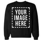 Custom Personalized Your Own Image Men's Crewneck Sweater