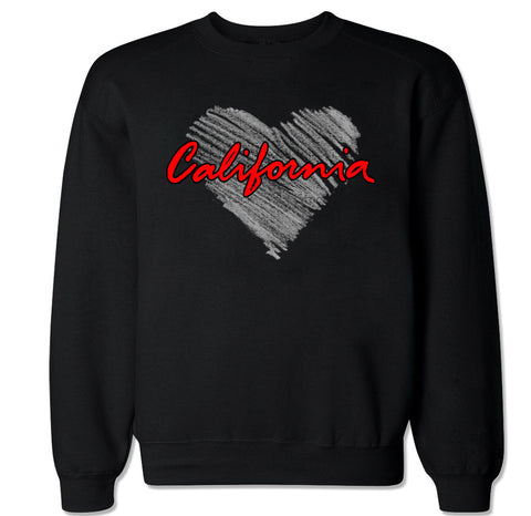 Men's California Heart Crewneck Sweater