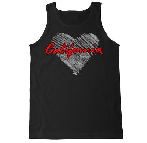 Men's California Heart Tank Top