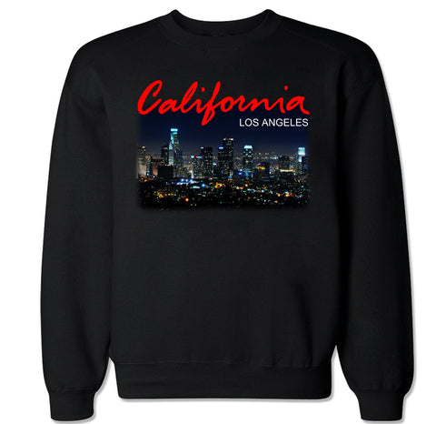 Men's California LA Los Angeles City Crewneck Sweater