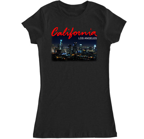 Women's California LA Los Angeles City T Shirt