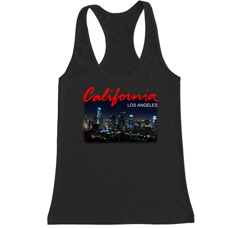 Women's California LA Los Angeles City Racerback Tank Top