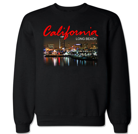 Men's California Long Beach City Crewneck Sweater