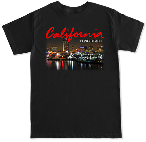 Men's California Long Beach City T Shirt