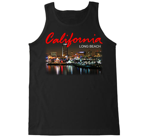 Men's California Long Beach City Tank Top