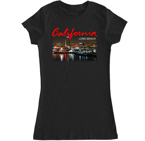 Women's California Long Beach City T Shirt
