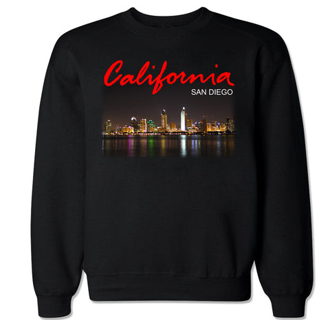 Men's California San Diego City Crewneck Sweater