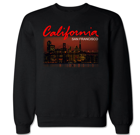 Men's California San Francisco City Crewneck Sweater