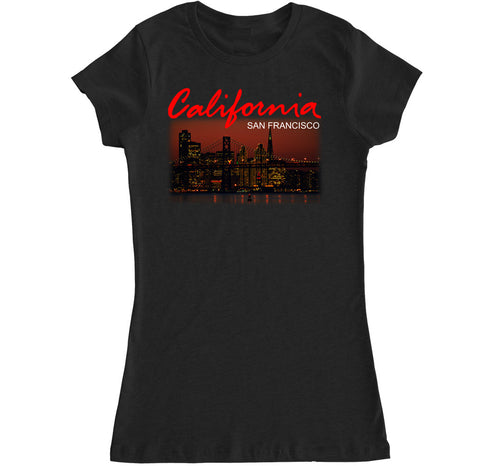 Women's California San Francisco City T Shirt