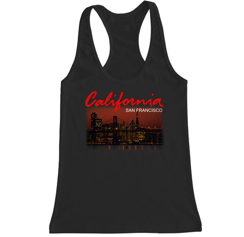 Women's California San Francisco City Racerback Tank Top