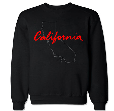 Men's California State Outline Crewneck Sweater
