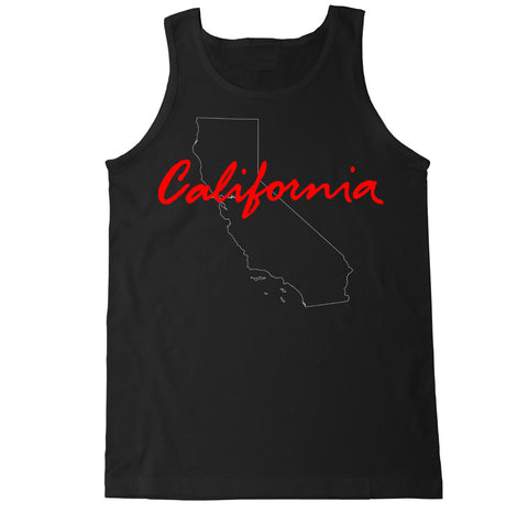 Men's California State Outline Tank Top