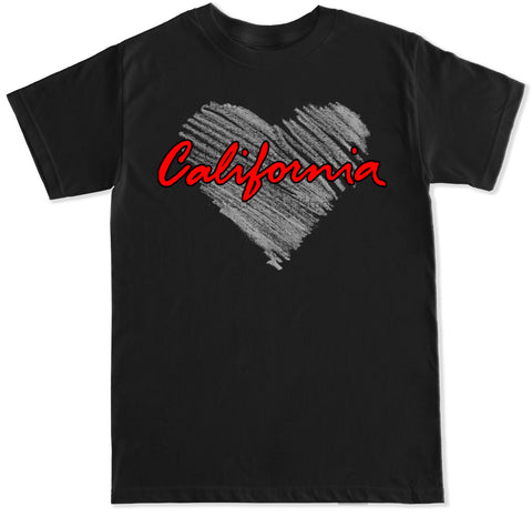 Men's California Heart T Shirt