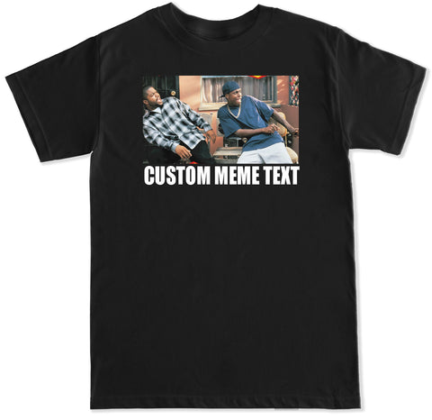 Men's Custom Meme Text Cube Tucker Damn  T Shirt