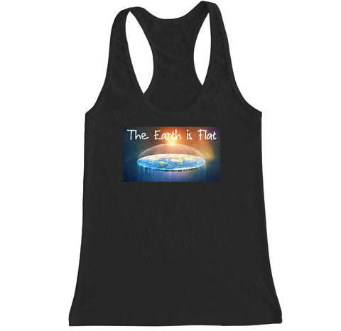 Women's The Earth is Flat Racerback Tank Top