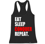Women's EAT SLEEP CONQUER REPEAT Racerback Tank Top