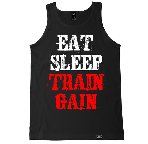 Men's EAT SLEEP TRAIN GAIN Tank Top