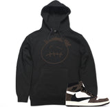 Men's Face Logo AJ1 Cactus Jack Travis Scott Retro 1 Pullover Hooded Sweater