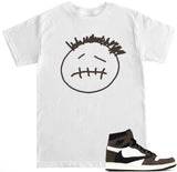 Men's Face Logo AJ1 Cactus Jack Travis Scott Retro 1 T Shirt