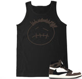 Men's Face Logo AJ1 Cactus Jack Travis Scott Retro 1 Tank Top