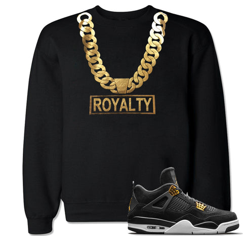 Men's Gold Chain Royalty Crewneck Sweater