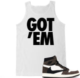 Men's Got Em Cactus Jack Travis Scott Retro 1 Tank Top