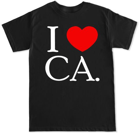 Men's I Love CA T Shirt