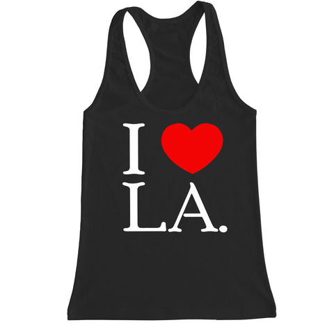 Women's I Love LA Racerback Tank Top