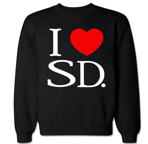 Men's I Love SD Crewneck Sweater