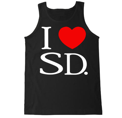 Men's I Love SD Tank Top