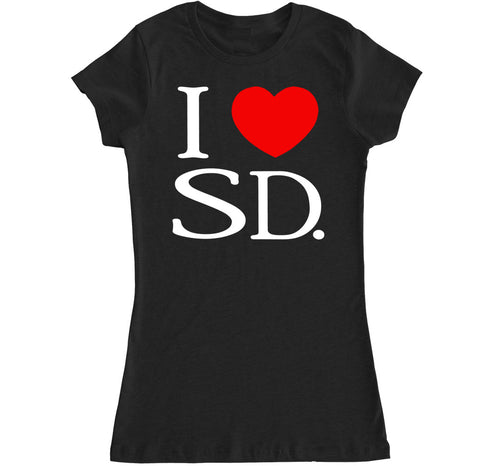 Women's I Love SD T Shirt