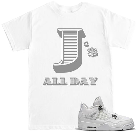Men's J's All Day Money Font T Shirt