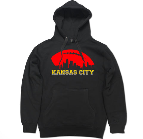 Men's Kansas City Football Skyline Pullover Hooded Sweater