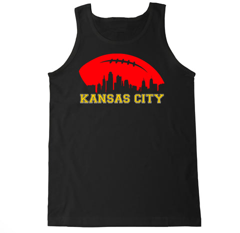 Men's Kansas City Football Skyline Tank Top