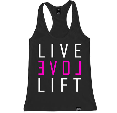 Women's LIVE LOVE LIFT Racerback Tank Top