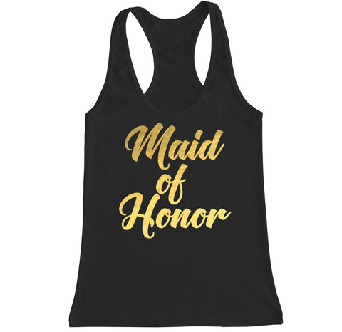 Women's MAID OF HONOR Racerback Tank Top