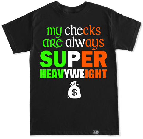 Men's CHECKS SUPER HEAVYWEIGHT T Shirt