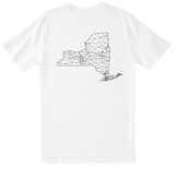 Men's NY NEW YORK MAP 2-SIDED T Shirt