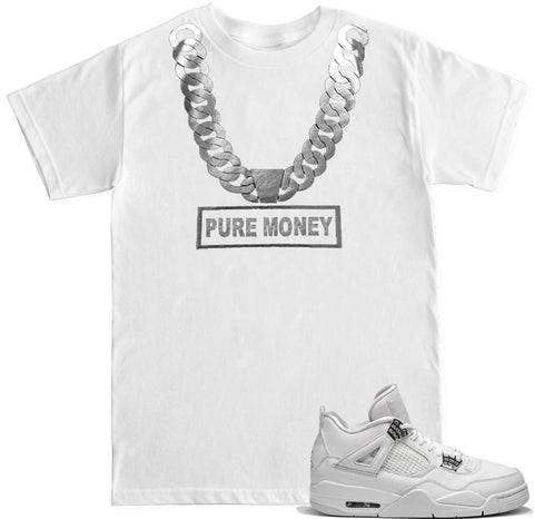 Men's Pure Money Silver Chain T Shirt