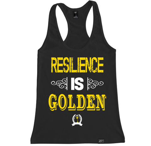 Women's RESILIENCE IS GOLDEN Racerback Tank Top